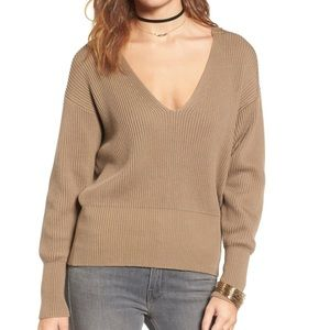 Free People Allure Pullover Knit Sweater Taupe S